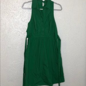 Anthropologie Kelly green pinafore dress sz 10